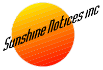 Sunshine Notices Logo